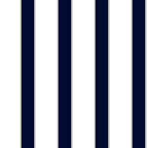 Cool Kids White, Navy and Grey Wide Stripe, Pinstripe Wallpaper