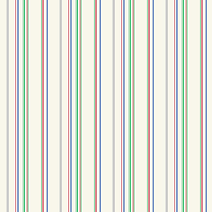 Cool Kids Ecru, Grey, Green, Blue and Red Wide Multi Stripe Wallpaper