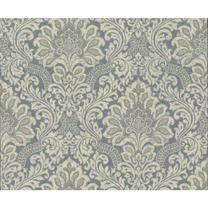 Organic Cork Prints Secret Garden Blue and Beige Wallpaper