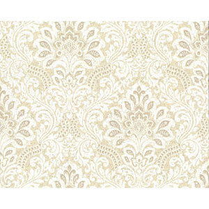 Organic Cork Prints Secret Garden Beige and Yellow Wallpaper