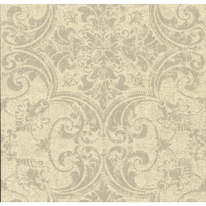 Organic Cork Prints Regency Beige and Black Wallpaper