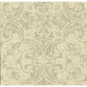 Organic Cork Prints Regency Beige and Black Wallpaper