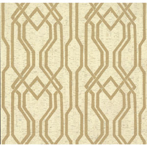 Organic Cork Prints Balanced Trellis Beige and Brown Wallpaper