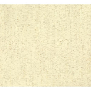 Organic Cork Prints Plain Bamboo Beige Wallpaper