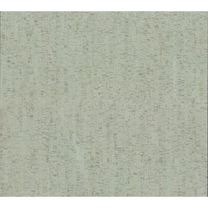 Organic Cork Prints Plain Bamboo Green Wallpaper