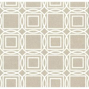 Organic Cork Prints Labyrinth White and Off White Wallpaper