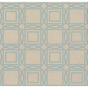Organic Cork Prints Labyrinth Blue Wallpaper