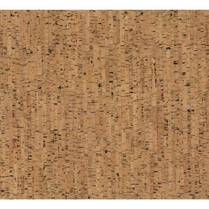 Organic Cork Prints Plain Bamboo Brown Wallpaper