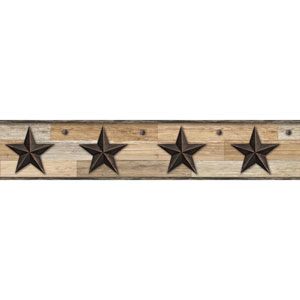 Rustic Living Pallet Star Brown Border
