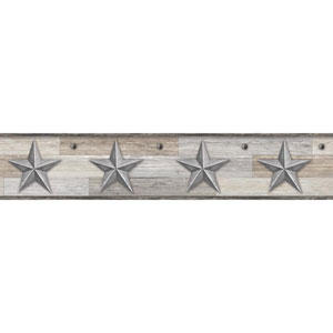Rustic Living Pallet Star Silver Border