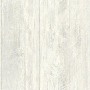 Rustic Living Rough Cut Lumber White and Off White Wallpaper