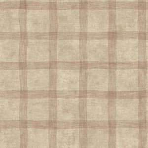 Rustic Living Tattersall Brown Wallpaper