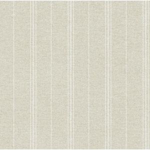 Rustic Living Grain Sack Stripe Beige Wallpaper