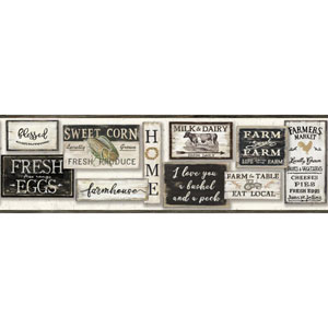 Rustic Living Farm To Table Black Border