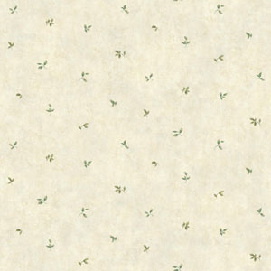 Rustic Living Leaf Toss White and Off White Wallpaper