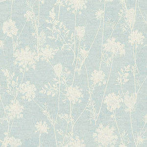 Rustic Living Queen Annes Lace Blue Wallpaper