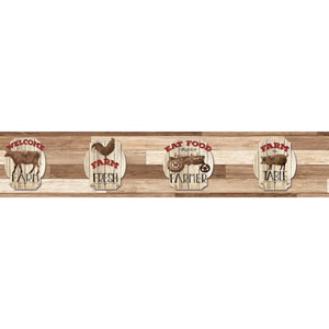 Rustic Living Farm Fresh Brown Border