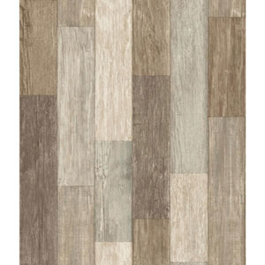 Rustic Living Pallet Board Brown Wallpaper
