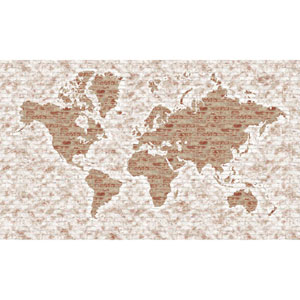 Rustic Living White World Map