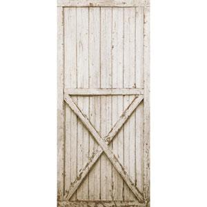 Rustic Living White Barn Door