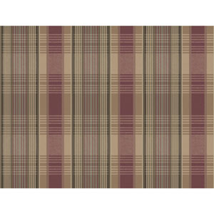 Rustic Living Bartola Plaid Red Wallpaper