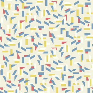 Young At Heart Tumble Blue, Red and Yellow Wallpaper