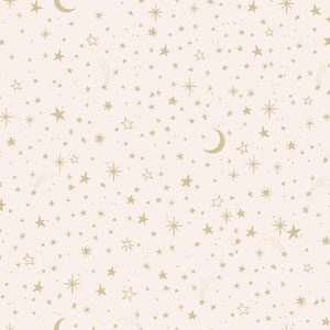 Young At Heart Twinkle Pink and Metallic Wallpaper