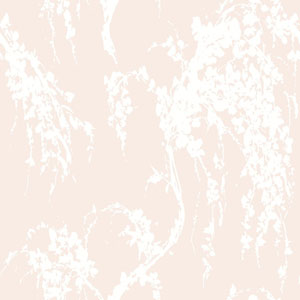 Young At Heart Willow Tree Pink and White/Off Whites Wallpaper