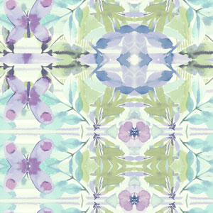 Young At Heart Synchronized Purple, Green and Blue Wallpaper