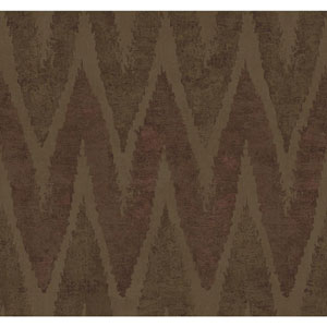 Ronald Redding Urban Taupe and Metallic Copper Chaparel Wallpaper