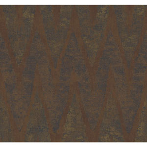 Ronald Redding Urban Copper and Deep Green Chaparel Wallpaper