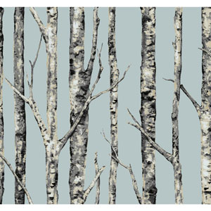 Ronald Redding Urban Blue The Birches Wallpaper