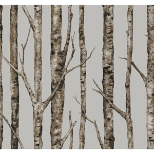 Ronald Redding Urban Grey The Birches Wallpaper