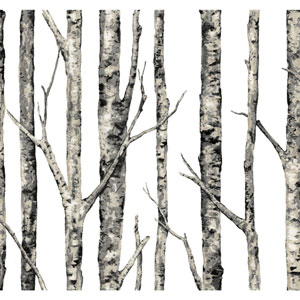 Ronald Redding Urban White The Birches Wallpaper