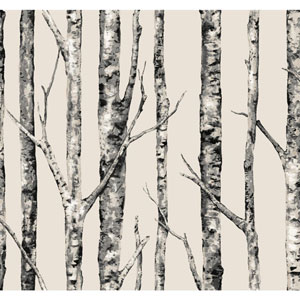 Ronald Redding Urban Beige The Birches Wallpaper