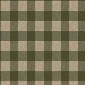 Ronald Redding Urban Beige and Green Buffalo Check Wallpaper