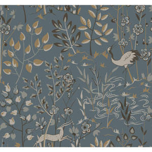 Ronald Redding Urban Teal Aspen Wallpaper