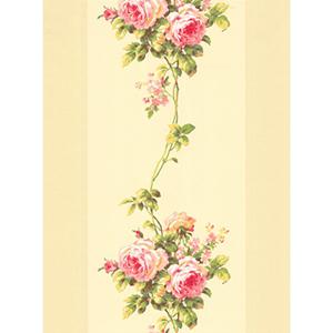 Inspired by Color Beige Rose Stripe Wallpaper