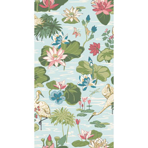 Madcap Cottage Lake Agawam Nile Blue Wallpaper