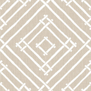 Madcap Cottage Chez Bamboo Pressed Linen Wallpaper