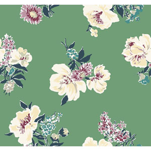 Madcap Cottage Isleboro Eve Moss Green Wallpaper