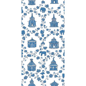 Madcap Cottage Into the Garden Ocean Blue Wallpaper