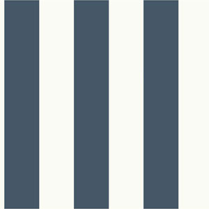 Awning Stripe Blue and White Removable Wallpaper