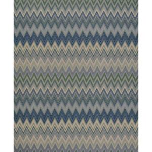 Missoni Home Zig Zag Multicolored Blue Wallpaper
