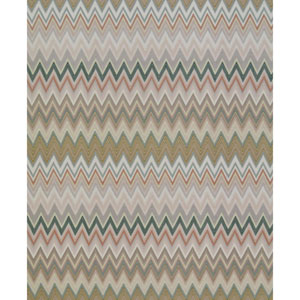 Missoni Home Zig Zag Multicolored Green Wallpaper