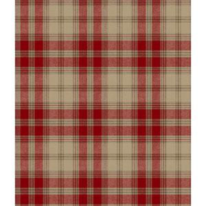 Ronald Redding Houndstooth Red and Tan Regents Glen Wallpaper