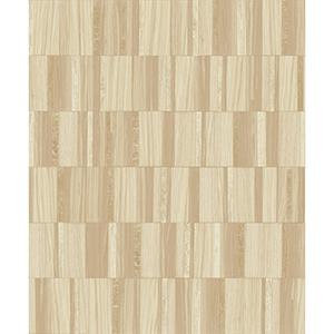 Mixed Materials Blonde Wood Veneer Wallpaper