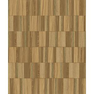 Mixed Materials Copper Wood Veneer Wallpaper