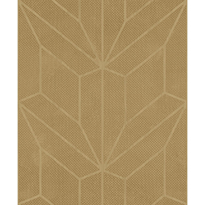 Mixed Materials Gold and Wood Geometric Wallpaper