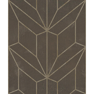 Mixed Materials Chocolate and Wood Geometric Wallpaper